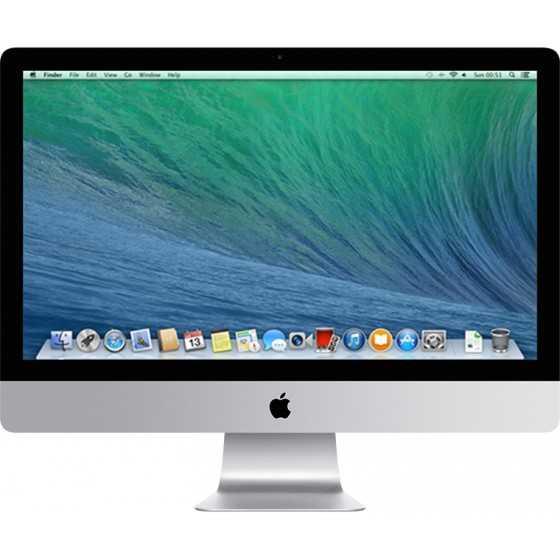 """iMac 27"""" 3.5GHz i7 16GB RAM 500GB Flash - Fine 2013 ricondizionato usato MG2731/2"""