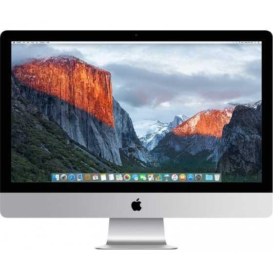 """iMac 27"""" 5K Retina 4.0GHz i7 16GB RAM 1TB Fusion Drive - Fine 2015 ricondizionato usato MG2742"""
