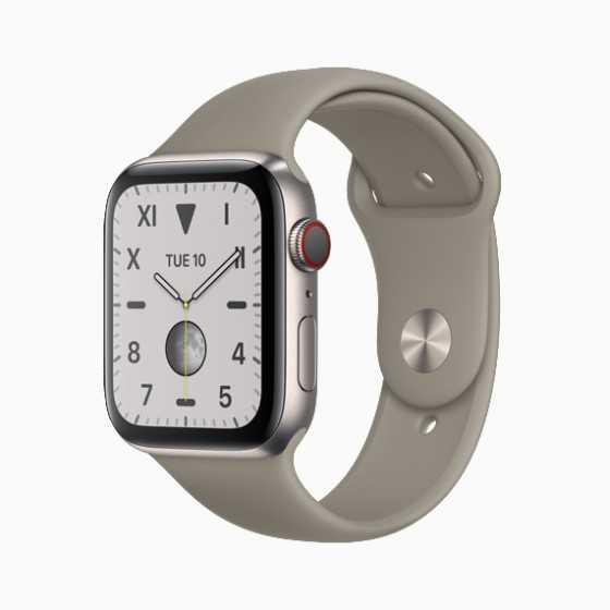 Apple Watch 5 - Argento ricondizionato usato W5TITANIO44MMCELLARGENTO-A+