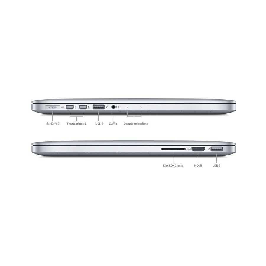 """MacBook PRO Retina 15"""" i7 2.3GHz 8GB ram 256GB SSD - Metà 2012 ricondizionato usato MG1507"""